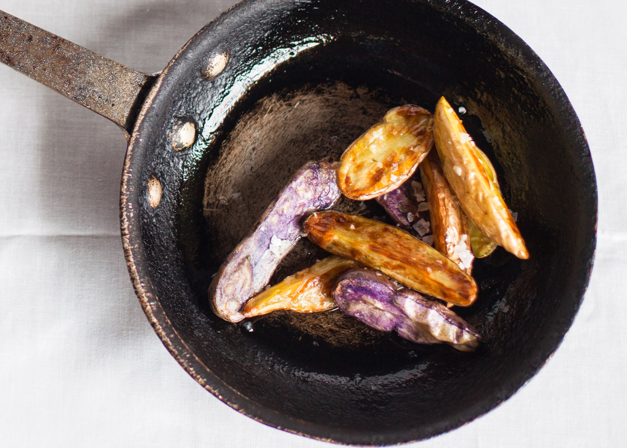 Duck Fat Roasted Fingerling Potatoes