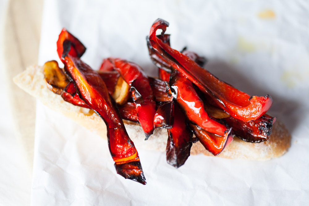Slow-Roasted Red Peppers in Balsamic Garlic Glaze